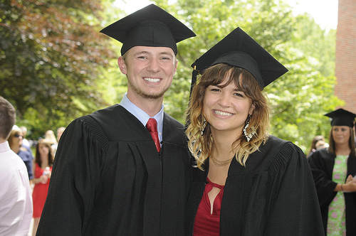 photo of two graduates